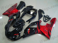 Yamaha YZF-R1 1998 1999 red and black fairing kits, this Yamaha YZF-R1 1998 1999 plastics was applied in red and blackgraphics, this 1998 1999 YZF-R1 fairing set comes with the both color and decals shown as the photo.If you want to do custom fairings for YZF-R1 1998 1999,our talented airbrusher will custom it for you.