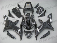 Yamaha YZF-R1 2002 2003 glossy black fairing kits, this Yamaha YZF-R1 2002 2003 plastics was applied in glossy blackgraphics, this 2002 2003 YZF-R1 fairing set comes with the both color and decals shown as the photo.If you want to do custom fairings for YZF-R1 2002 2003,our talented airbrusher will custom it for you.