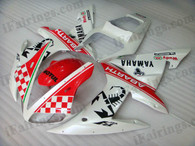 Yamaha YZF-R1 2002 2003 Abarth replica fairing kits, this Yamaha YZF-R1 2002 2003 plastics was applied in Abarth replicagraphics, this 2002 2003 YZF-R1 fairing set comes with the both color and decals shown as the photo.If you want to do custom fairings for YZF-R1 2002 2003,our talented airbrusher will custom it for you.