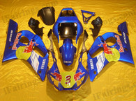 Yamaha YZF-R6 1998 to 2002 red bull replica fairing kits, this Yamaha YZF-R6 1998 to 2002 plastics was applied in red bull replicagraphics, this 1998 to 2002 YZF-R6 fairing set comes with the both color and decals shown as the photo.If you want to do custom fairings for YZF-R6 1998 to 2002,our talented airbrusher will custom it for you.