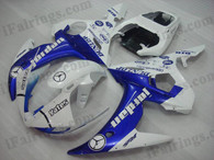 Yamaha YZF-R6 2003 2004 2005 jordan replica fairing kits, this Yamaha YZF-R6 2003 2004 2005 plastics was applied in jordan replicagraphics, this 2003 2004 2005 YZF-R6 fairing set comes with the both color and decals shown as the photo.If you want to do custom fairings for YZF-R6 2003 2004 2005,our talented airbrusher will custom it for you.