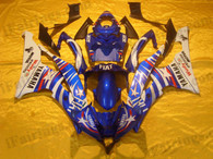 Yamaha YZF-R6 2006 2007 Fiat Limited Edition fairing kits, this Yamaha YZF-R6 2006 2007 plastics was applied in Fiat Limited Editiongraphics, this 2006 2007 YZF-R6 fairing set comes with the both color and decals shown as the photo.If you want to do custom fairings for YZF-R6 2006 2007,our talented airbrusher will custom it for you.