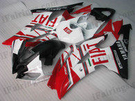 Yamaha YZF-R6 2008 to 2012 Fiat replica fairing kits, this Yamaha YZF-R6 2008 to 2012 plastics was applied in Fiat replicagraphics, this 2008 to 2012 YZF-R6 fairing set comes with the both color and decals shown as the photo.If you want to do custom fairings for YZF-R6 2008 to 2012,our talented airbrusher will custom it for you.