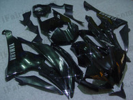 Yamaha YZF-R6 2008 to 2012 black fairing kits, this Yamaha YZF-R6 2008 to 2012 plastics was applied in blackgraphics, this 2008 to 2012 YZF-R6 fairing set comes with the both color and decals shown as the photo.If you want to do custom fairings for YZF-R6 2008 to 2012,our talented airbrusher will custom it for you.
