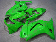 Kawasaki Ninja250 2006 to 2009 lime green fairing kits, this Kawasaki Ninja250 2006 to 2009 plastics was applied in lime greengraphics, this 2006 to 2009 Ninja250 fairing set comes with the both color and decals shown as the photo.If you want to do custom fairings for Ninja250 2006 to 2009,our talented airbrusher will custom it for you.