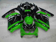 Kawasaki Ninja250 2006 to 2009 monster replica fairing kits, this Kawasaki Ninja250 2006 to 2009 plastics was applied in monster replicagraphics, this 2006 to 2009 Ninja250 fairing set comes with the both color and decals shown as the photo.If you want to do custom fairings for Ninja250 2006 to 2009,our talented airbrusher will custom it for you.
