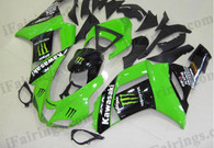 Kawasaki ZX6R 636 2007 2008 Monster replica fairing kits, this Kawasaki ZX6R 636 2007 2008 plastics was applied in Monster replicagraphics, this 2007 2008 ZX6R 636 fairing set comes with the both color and decals shown as the photo.If you want to do custom fairings for ZX6R 636 2007 2008,our talented airbrusher will custom it for you.