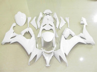 Kawasaki ZX10R 2008 2009 white fairing kits, this Kawasaki ZX10R 2008 2009 plastics was applied in whitegraphics, this 2008 2009 ZX10R fairing set comes with the both color and decals shown as the photo.If you want to do custom fairings for ZX10R 2008 2009,our talented airbrusher will custom it for you.