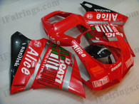 Ducati 748/916/996/998 red/blue FIAT fairing kits, this Ducati 748/916/996/998 replacement fairing was applied in red/blue FIAT graphics, this Ducati 748/916/996/998 fairing set comes with the both color and decals shown as the photo. If you want to do custom fairings for Ducati 748/916/996/998,our talented airbrusher will custom it for you.