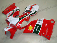 OEM quality fairings and body kits for Ducati 748/916/996 with INFOSTRADA color scheme/graphics, these fairing kits are oem quality, fast shipping and easy installtion. More factory color-matched fairings for Ducati 748/916/996, team race replica fairings and custom fairing sets for Ducati 748/916/996, please browse iFairings.com.