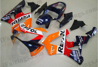 Honda CBR900RR 929 2000 2001 Repsol fairing kits, this Honda CBR900RR 929 2000 2001 plastics was applied in Repsol graphics, this 2000 2001 CBR900RR 929 fairing set comes with the both color and decals shown as the photo.If you want to do custom fairings for CBR900RR 929 2000 2001,our talented airbrusher will custom it for you.