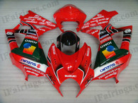 Suzuki GSXR1000 2007 2008 JOMO Yoshimura fairing kits, this Suzuki GSXR1000 2007 2008 plastics was applied in JOMO Yoshimura graphics, this 2007 2008 GSXR1000 fairing set comes with the both color and decals shown as the photo.If you want to do custom fairings for GSXR1000 2007 2008,our talented airbrusher will custom it for you.