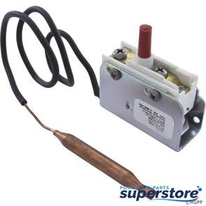 "Invensys Appliance Controls | Hi-Limit, 5/16"" dia, 12""Capillary, SPST, Screw Terminal, 25A | 275-3290-00 | IAC275329000 | H-L5/16-12 | 275-3148-00"