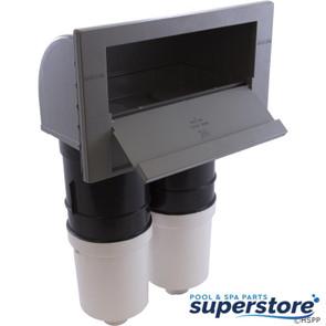 Waterway Plastics | Skimmer, Waterway, Spa Front Access, 200sf, Complete, Gray | 510-6707