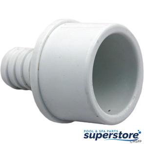 "Waterway Plastics | Barb Adapter 1.5""Spg x 3/4""B (Ribbed) | 413-4370 | 1432-210 | 806105084545"