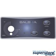 Balboa Water Group | Overlay, BWG Duplex, 3 Button/Knob | 10315