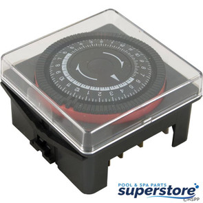 Borg General Controls   Timer, Diehl, SPST, Panel Mount, 230v, 20A, w/housing, 24hr   59-581-1021   TA-4164   610809