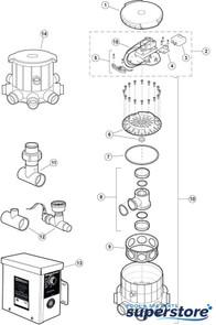 Zodiac/Polaris | Motor Assy,Zodiac Polaris UltraFlex/UltraFlex 2 Cleaners | 3-7-5