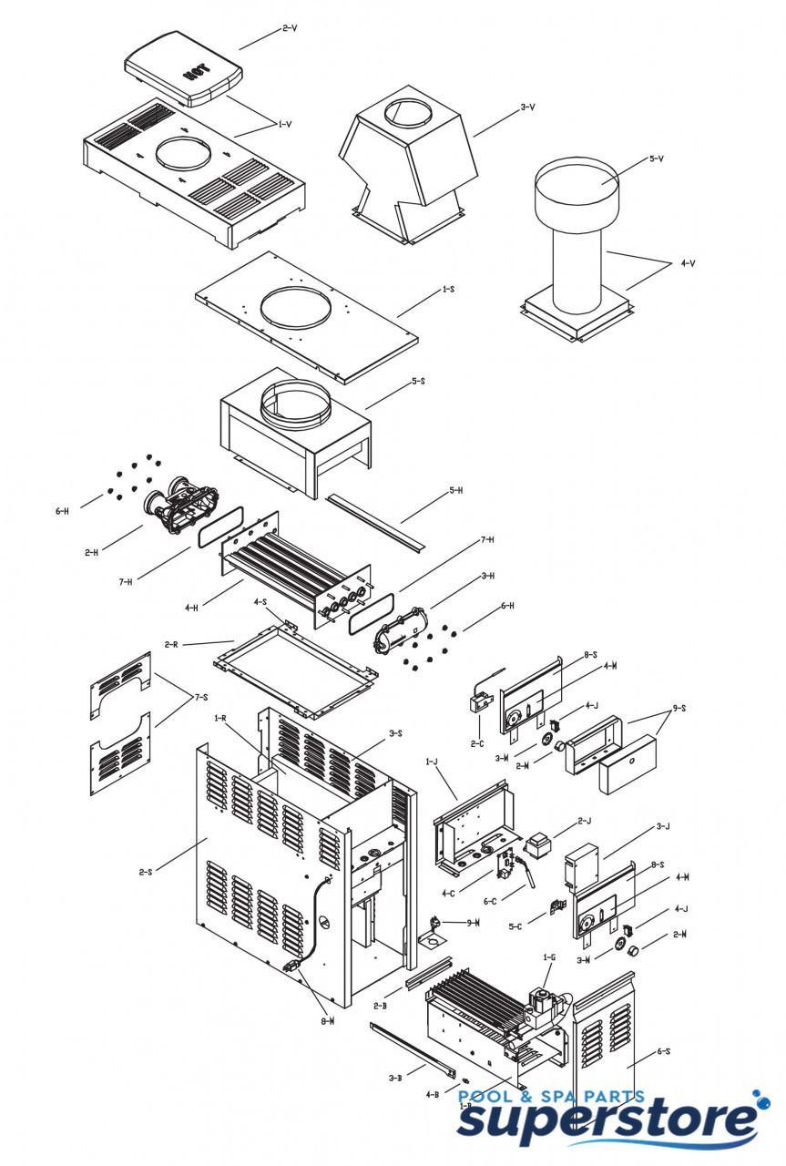 raypak versa 130a burner tray w o burners (sea level) 011579f Dimension One Wiring Diagram