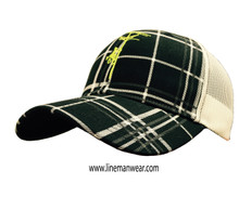 Awesome hat!  Fantastic embroidery!  Safety green lineman on front, www.linemanwear.com on back.  Great snap back hat.