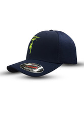 Navy with safety green!  This hat pops!  Get yours today.