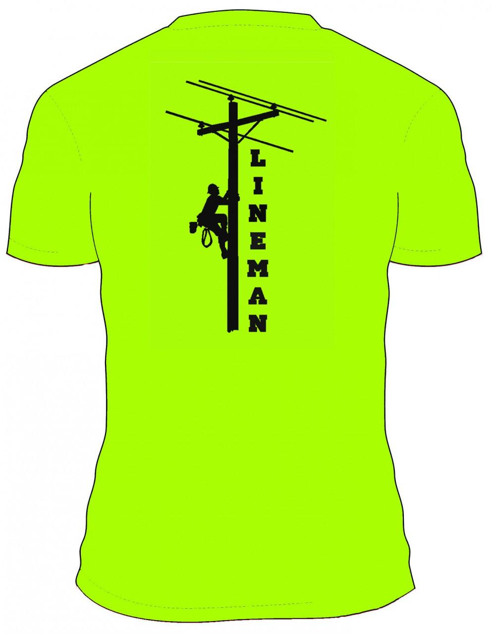 dd4e2341 Lineman T-Shirt Green - Lineman Wear