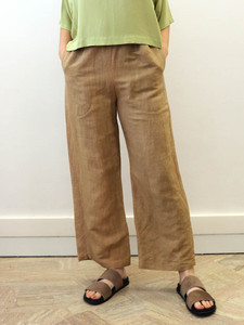 Hand dyed linen pants #2