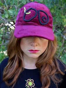 Embroidered velvet cap #2