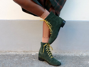 Penny Dreamcore Green Suede