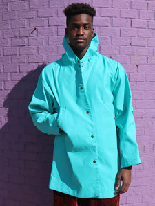 Blu Coated Cotton Anorak