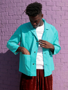 Boxy Coated Cotton Jacket