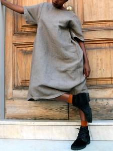 Kaftan Dress Linen