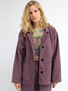 Boxy Purple Denim Jacket