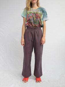 Purple Denim Pants