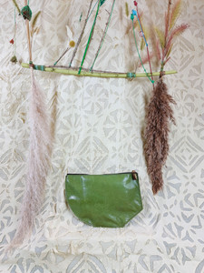 green kidskin clutch