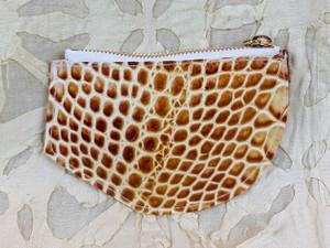yellow croc purse