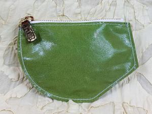 green kidskin purse