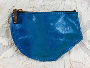 blu kidskin purse
