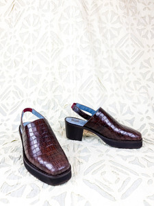 Penny Cast brown croc