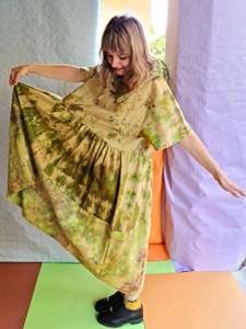 Linen tee dress