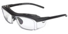 Global Vision Eyewear Full Lens RX Safety Series RX-F in Matte-Black