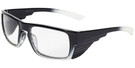 Global Vision Eyewear Full Lens RX Safety Series OP15 in Black-Gradient