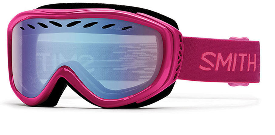 df1c7b66fd Smith Optics Snow Goggles Transit Airflow Series in Fuchsia Static with  Blue Sensor Mirror Lens