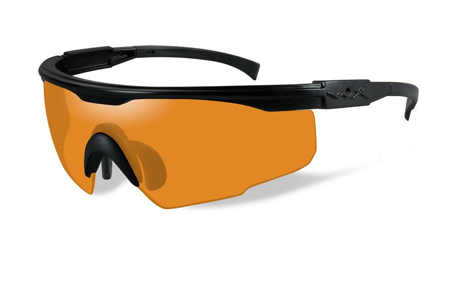 51caf0d4f8ad Wiley X PT-1 Wrap Around Safety Glass in Matte Black w/ Light Rust Lens.  Loading zoom