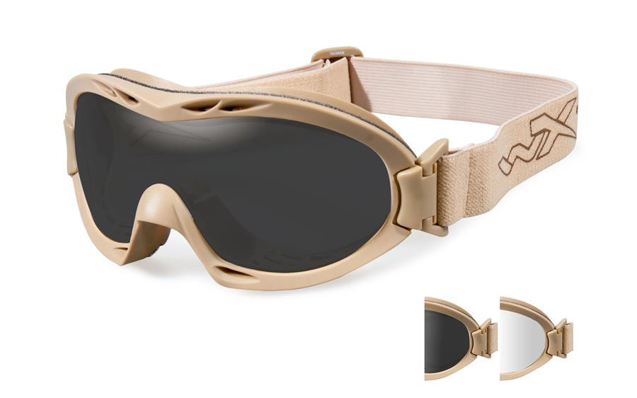 44069f22b7 Wiley X Nerve in Tan Frame W  Clear   Gray Lens Set - Rhino Safety ...