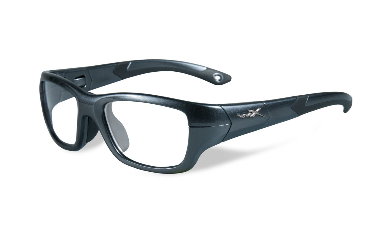 3fea308568e9d Wiley-X Youth Force Series  Flash  in Graphite   Black Safety ...