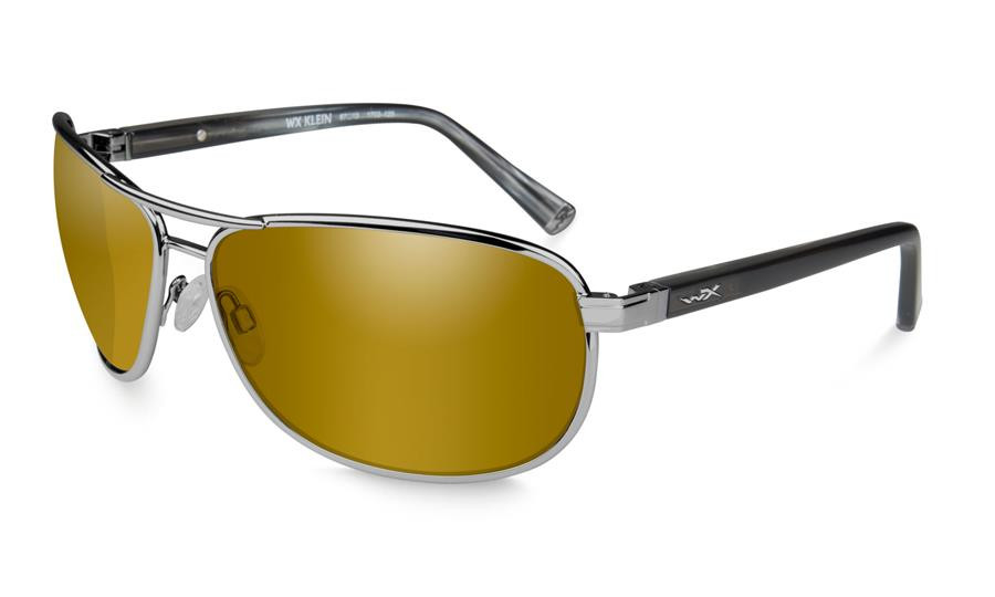 120d042466 Wiley X Klein in Gunmetal and Polarized Venice Gold Mirror Lens ...
