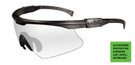Wiley X PT-1 Wrap Around Safety Glass in Matte Black w/ Clear Lens