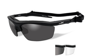 de288cf104 Wiley X Guard Safety Glass in Matte Black w  Grey   Clear Lenses. Image 1