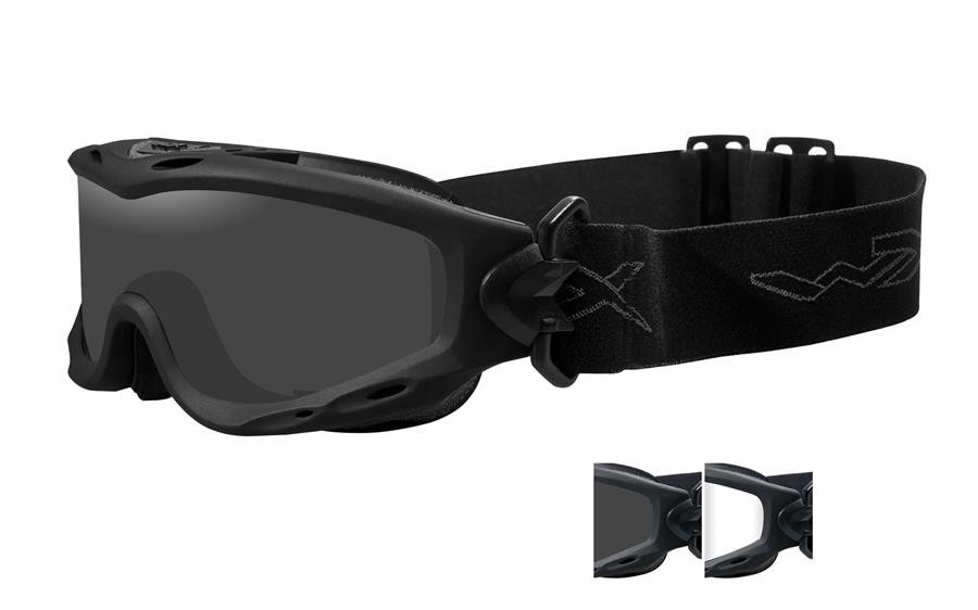 51f1288b8d Wiley X Spear Tactical Rx Safety Goggles in Black with Smoke   Clear Lens.  Loading zoom
